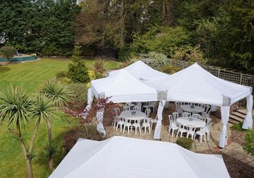 Dome Marquee plus Mini Marquees with Drapes