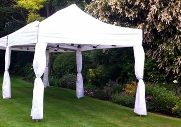 3m x 9m Party Marquee with Drapes