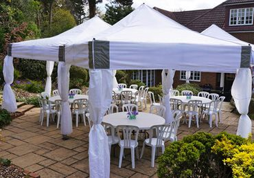 6m x 6m Hex Marquee with Two 3m x 3m Mini Marquees