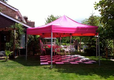 20ft Pink Party Marquee with Dance Floor