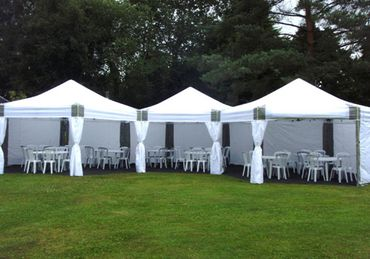 6m x 18m Dome Marquees with Flooring, Tables, and Chairs