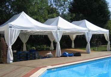 5m x 14m Palace Canopy with Drapes
